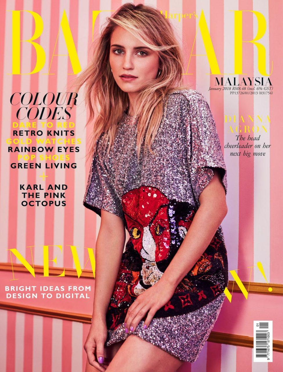 Cactus Retouch editorial Dianna Agron Harper's Bazaar Malysia 1