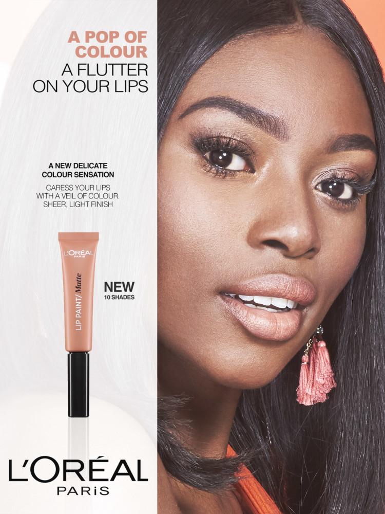 Cactus retouch l'Oréal Paris campaign lip paint 1