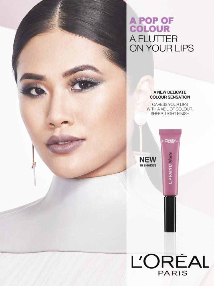 Cactus retouch l'Oréal Paris campaign lip paint 2