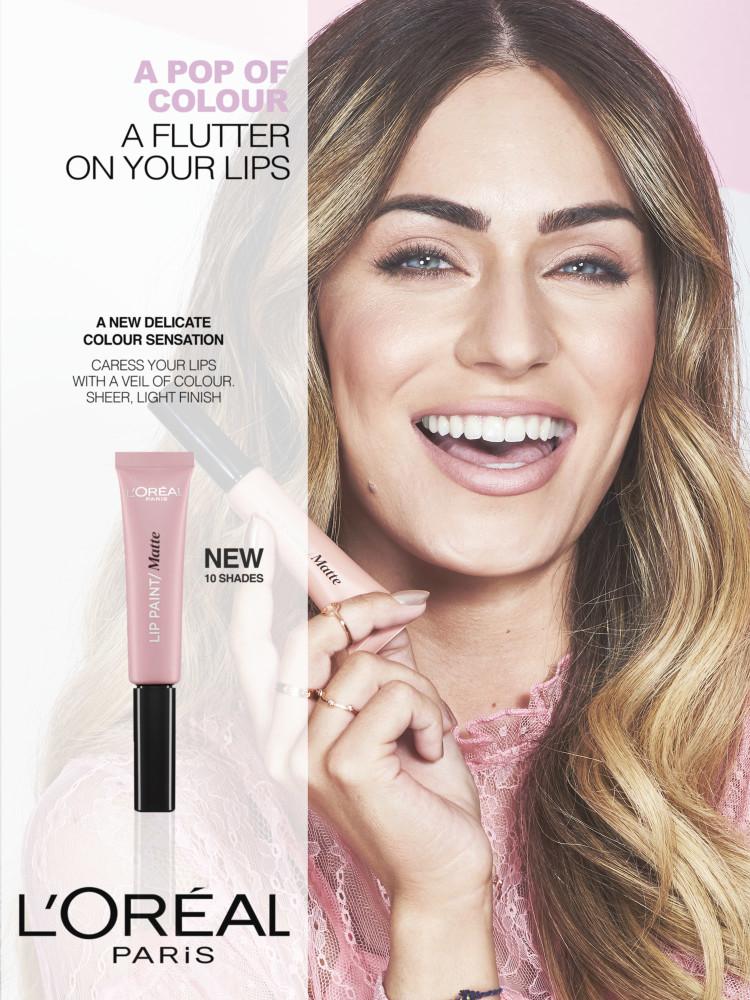 Cactus retouch l'Oréal Paris campaign lip paint 3